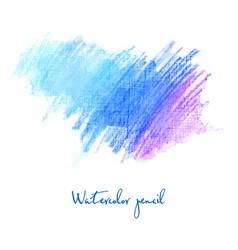 watercolor pencil in blue vector image