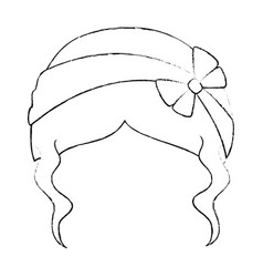woman hairstyle fashion vector image