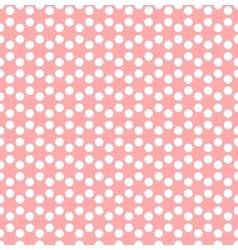 Dotted background in hexagonal arangement vector image