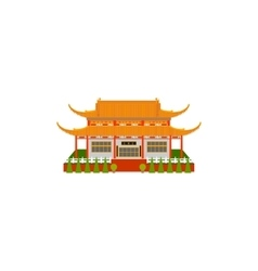 Buddhist temple flat icon vector
