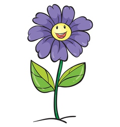 a purple flower vector image