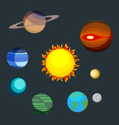 set the planets of the solar system earth mars vector image