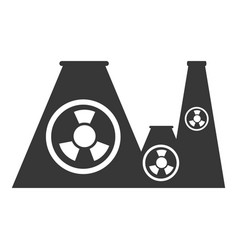 Nuclear plant factory building vector