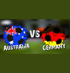 banner football match australia vs germany vector image