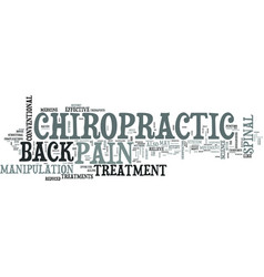 Z chiropractic back pain text word cloud concept vector