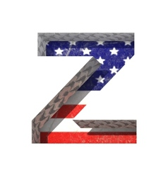 American cutted figure z paste to any background vector