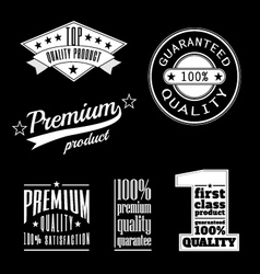 Vintage labels - premium and top quality products vector