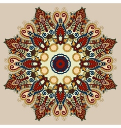 Beige colour mandala circle decorative spiritual vector