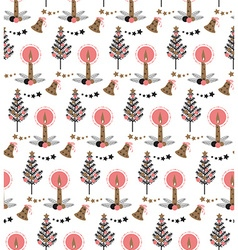 Christmas candle pattern vector