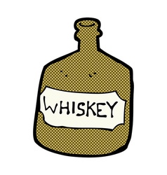 Comic cartoon old whiskey bottle vector