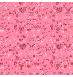 Valentines day seamless pattern vector