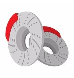 2 wheel covers cartoon icon vector image