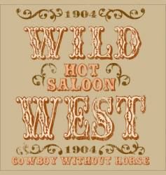 Wild west design vector