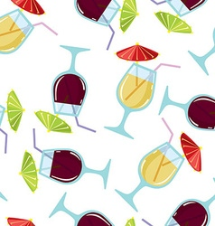 Seamless pattern with cocktails vector