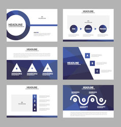 Blue annual report leaflet brochure flyer vector