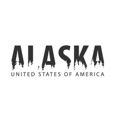 Alaska usa united states of america text or vector