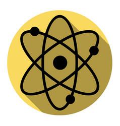 atom sign flat black icon vector image vector image