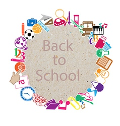 Back to School on paper vector image