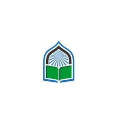 Book mosque icon logo vector