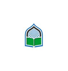 book mosque icon logo vector image
