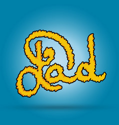 dad lettering greeting card happy fathers day vector image
