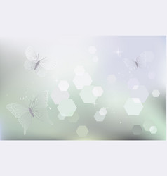 desktop wallpaper background with butterflies vector image
