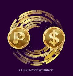 Digital currency money exchange peercoin vector
