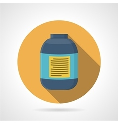 Flat color icon for creatine supplements vector