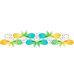 Floral ornament wave of flowers vector