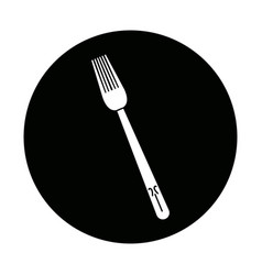 Fork cutlery eating utensil kitchen icon vector