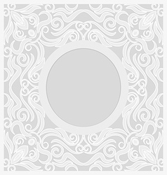 Lace background round vignette vector