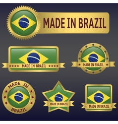 MADE IN BRAZIL vector image vector image