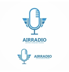 Microphone icon or logo vector
