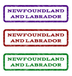 Newfoundland and labrador watermark stamp vector
