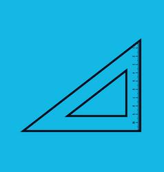 Rules school supply icon vector