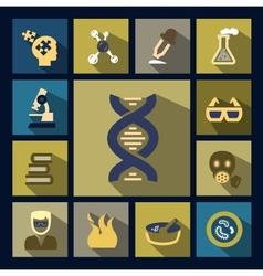 Science icon set vector