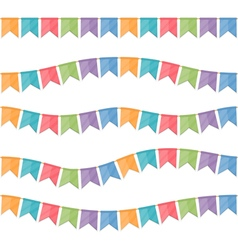 Seamless Festive Flags vector image vector image