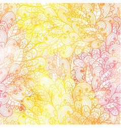 Seamless floral grunge orange and pink pattern vector