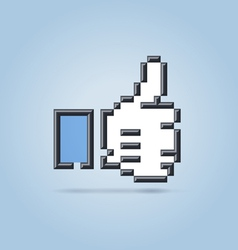 Social net like hand vector image