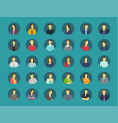 social network relationship person avatars vector image vector image