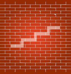 Stair up sign whitish icon on brick wall vector