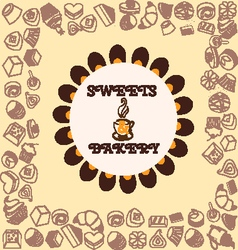 Sweets and Bakery pattern vector image