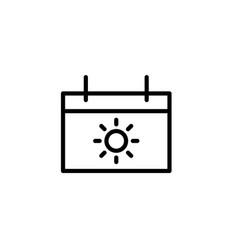 vacation calendar icon thin line black vector image