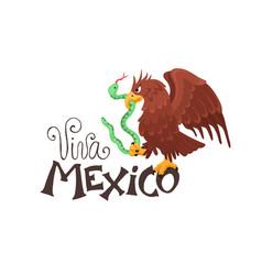 Viva mexico with eagle vector