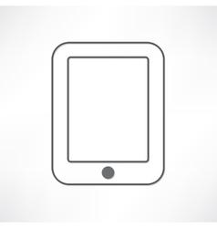 White ipad vector image vector image
