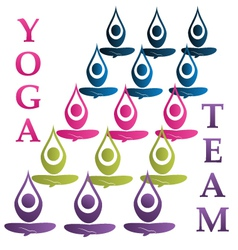 Yoga team icon vector image vector image