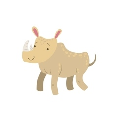 Rhino stylized childish drawing vector