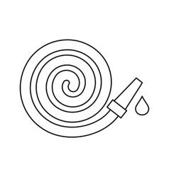 Garden hose icon outline style vector