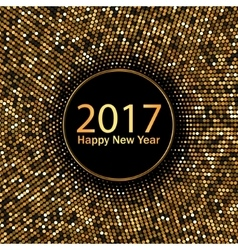 2017 happy new year gold background vector