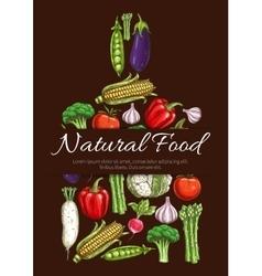 Vegetables vegetarian food symbol vector